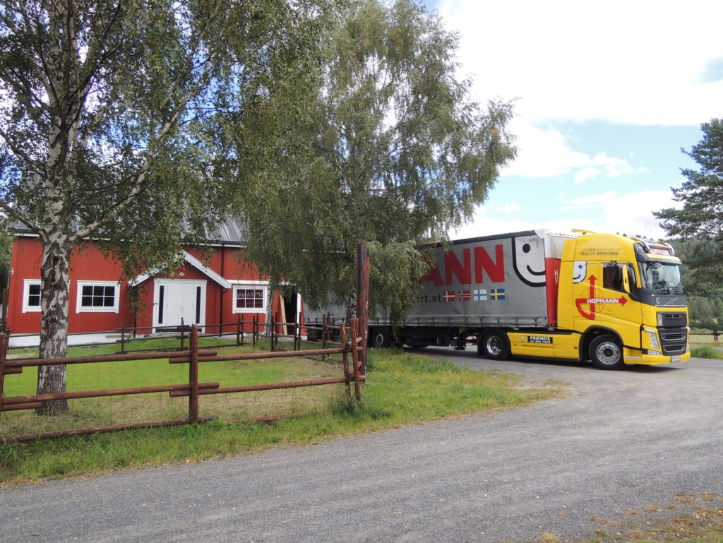 An anxious team welcomed the Hoffman Transport truck as it arrived with the precious goods from Austria in August.