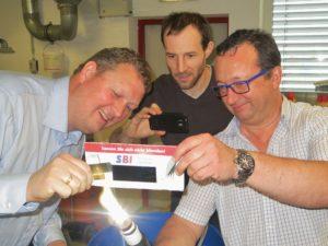 Eirik Manger, Acona Flow Technology, Roman Kettler, SBI, and Ferdinand Stempfer, SBI on May 2nd 2014 in Hollabrunn.