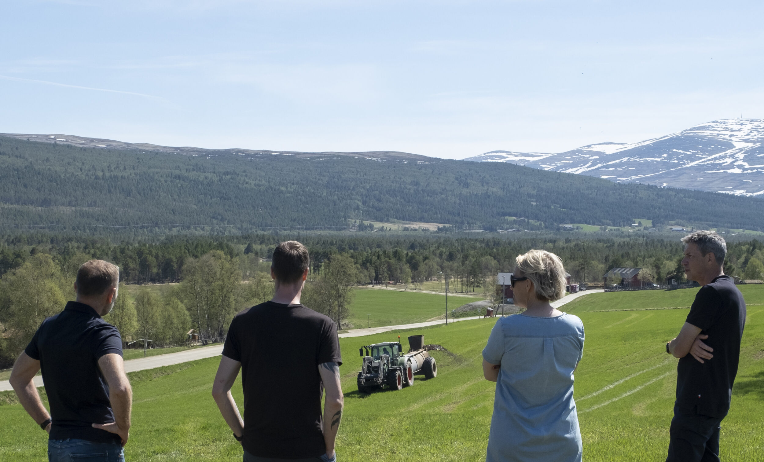 Looking out on Galåvolden Gård